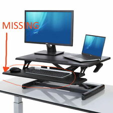 Seville Classics airLift Pro Pneumatic Desk Riser Sit to Stand Workspace Read !