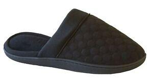 Isotoner Women's Microsuede Textured Jersey Soft Natalie Clog, Black 7.5-8
