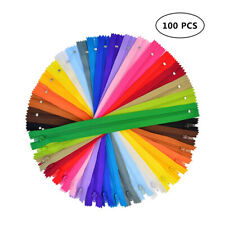100Pcs Nylon Coil Zippers Bulk for Tailor Sewing Crafts Bags (20 Colors)