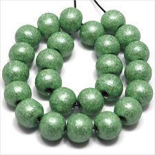 Lot de 40 perles rondes en Bois 10mm Vert clair