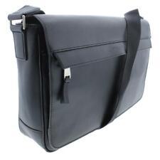 Michael Kors NEW Men's Odin Resina Large Messenger Leather Bag Black