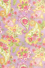 """Colette Floral Paisley Violet Moda Quilt Fabric 14"""" remnant #160"""