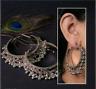 Indian Traditional Bollywood Silver Oxidised Jhumka Jhumki Hoop Earrings