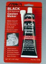 BLACK RTV Silicone Gasket High Temp Sealant Maker 3 OZ. 85g Tube 12AB