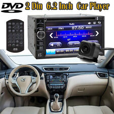 "2DIN 6.2"" Inch Car Stereo CD DVD HD Player HeadUnit W/ Backup Camera for Nissan"