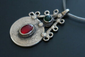 VINTAGE BALUCHI PENDANT from Central Asia - Free Multi-Strand Neck Cord Included