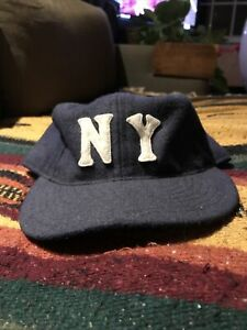 Ebbets Field Flannels 1936 New York Black Yankees Fitted Wool Baseball Hat Cap