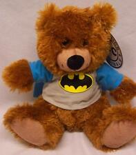 "DC Comics Originals TEDDY BEAR IN BATMAN SHIRT 10"" Plush STUFFED ANIMAL Toy NEW"