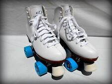 NEW DOMINION-ESPRIT WHITE INDOOR/ OUTDOOR ROLLER SKATES - SIZE LADIES 8 & MORE