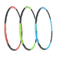 Authority Weighted Hula Hoop Magnetic Fitness Massager Workouts Exercises Sports
