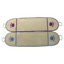 NEW Boots & Barkley  1 Blue Border Towel With Hand Pocket