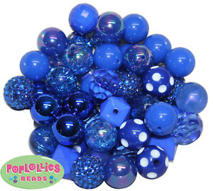 20 g blue seed beads 4 mm glass Pearl ROC203 royal blue beads frosted glass