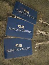 Princess Cruise Lines Ship Blue Vintage Playing Card Luggage Name Tag Tags (3)