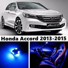 15pcs LED Blue Light Interior Package Kit for Honda Accord 2013-2015