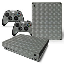 3d Silver - Xbox One X Sticker Set Protective Skin Console & Controllers