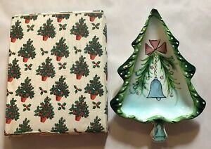 Holt Howard Christmas Tree Candy Tray Dish 1959 Vintage See Description with Box