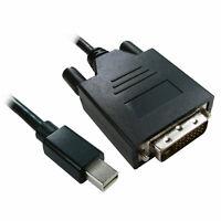 1m Mini Display Port Male Plug to DVI-D 24+1 Male Video Cable Black [008392]