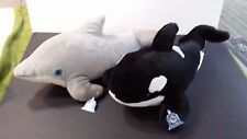 SEA WORLD Plush Whale and Dophin Large Stuffed Animals Collectible Creature Toy