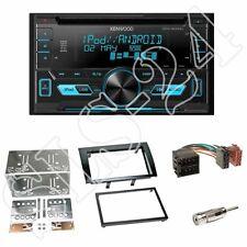 Kenwood DPX3000U CD Radio + Fiat Bravo (198) 2-DIN Blende schwarz + ISO-Adapter