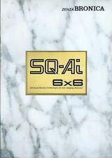 Camera Brochure - Zenza Bronica - Sq-Ai 6x6 - c1990's (Cb201)