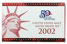 New Listing2002-S Us Silver Proof Set 10 coins complete