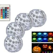 4X Led Light Remote Control Color Colored Boundary RGB Submersible Efx Accent
