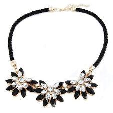 Women Beauteous Charm Luxury Noble Multi Crystal Flower Bib Necklace CT K5R H1J6