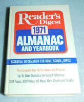 Readers Digest 1971 Almanac Yearbook New Pictures Reference Home School Office