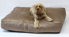 """Dog Bed, Chocolate Faux suede  8"""" Deep, Extra Large, Removable inner, 3 sizes"""