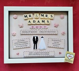 Personalised WEDDING GIFT FRAME Picture Keepsake Bride Groom Marriage Present
