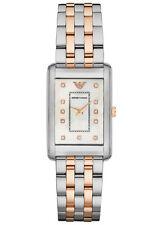 Emporio Armani Rectangle Stainless Steel Case Wristwatches