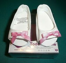 "NEW ADORA 20"" TODDLER OR BABY WHITE CANVAS SHOES"