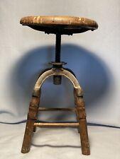 Antique Industrial Drafting Stool Vintage