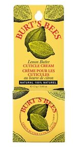 New Burt's Bees 100% Natural Lemon Butter Cuticle Cream 0.6 Oz. Tin