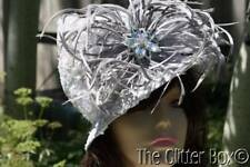 Whittall & Shon Kentucky Derby Church Special Occasion Women's Hat Gray Beaded
