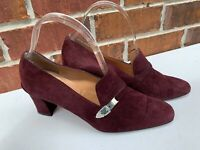 Ralph Lauren Shoes Size 9 B Purple Plum Suede Leather Made In Spain Pumps
