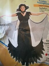 Halloween Costume Gothic Vampire Women's Adult Fancy Dress @ Size 14