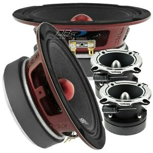 2x DS18 PRO-X6.4BM 6.5″ Midrange Bullet Speakers 2x PRO-TW220 Super Loud Tweeter