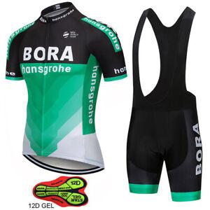 BORA Mens Cycling Clothing Bicycle Short Sleeve Cycling Jerseys Bib Shorts sets