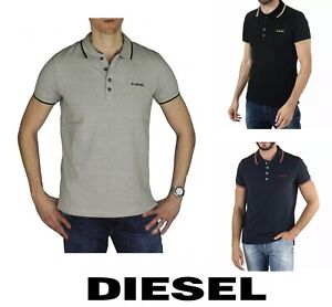 Diesel Men's Short Sleeve Polo T-Randy Collared T-Shirt Brand New All Sizes
