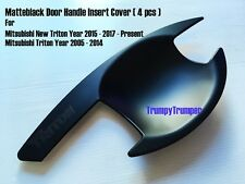 MATTE BLACK DOOR HANDLE INSERT BOWL CUP TRIM MITSUBISHI TRITON L200 15 2006-2017