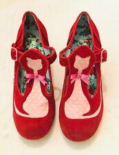Irregular Choice Very Rare Vintage Red & Pink Kitty Heels UK4 EU37