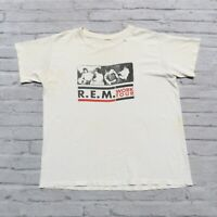 Vintage 1987 R.E.M. Work Tour Tshirt Size L M Made in USA