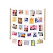 Umbra® Hangit Große Deko Foto Kunst Collage natur Wäscheleine + 40 Holzklammern