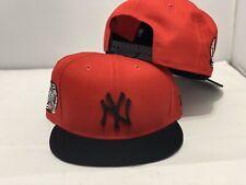 New York Yankees Red Black Metal Logo New Era Snapback