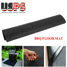 the gas grill splatter barbecue mat reversible protective absorbent deck floor
