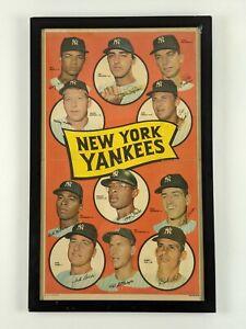 Vintage Framed 1969 Topps Team Baseball Poster – Yankees 19 of 24
