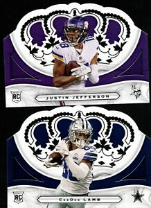 2020 PANINI CHRONICLES CROWN ROYALE ROOKIE RC SP SINGLES - YOU PICK FOR SET