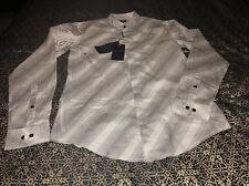 A/J Armani Jeans  Abstract Stripe Button Front M Mens Casual/Dress Shirt $175