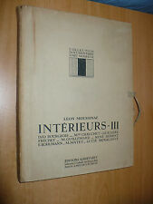 RARO COLLECTION DOCUMENTAIRE D'ART MODERNE L. MOUSSINAC INTERIEURS III 1925 LEVY
